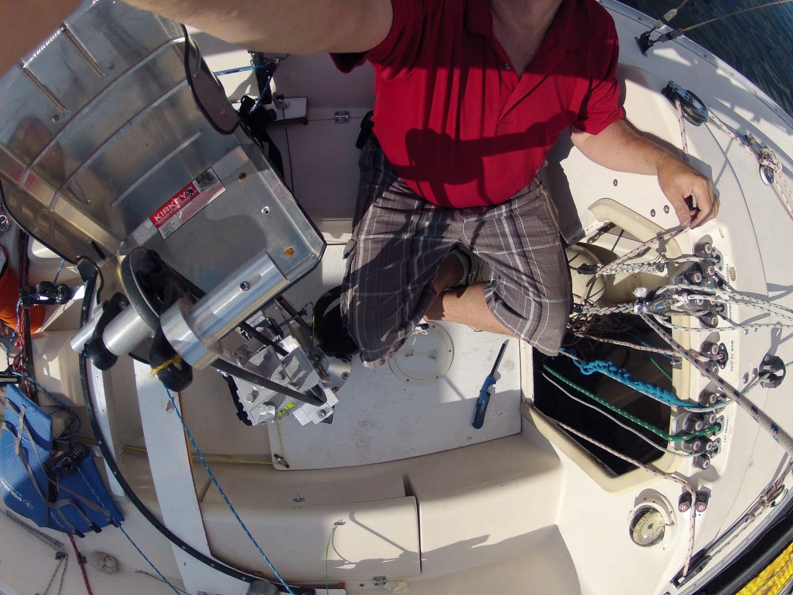 Steve testing Gopro camera last Thursday